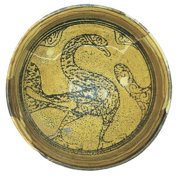 Glazed Ceramic Bowl With A Low Base 01307 ό